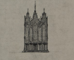 "Lincoln Cathedral Organ - Copper Print, 8"" x 12"""