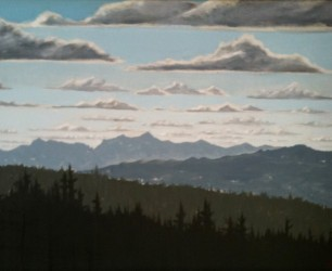 "Mount Cardigan - Oil on Canvas, 16"" x 24"""