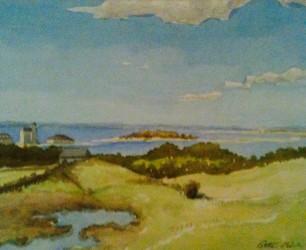 "Block Island - Watercolor, 12"" x 16"""